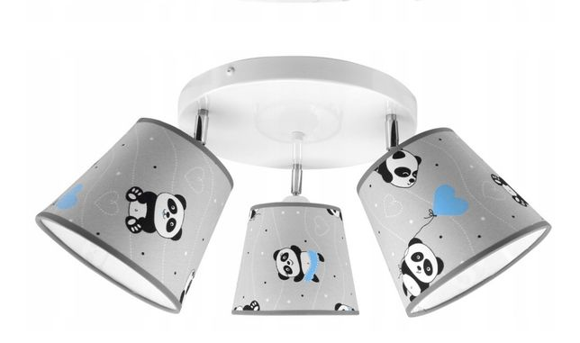 Lampa sufitowa żyrandol pokój dziecka pandy