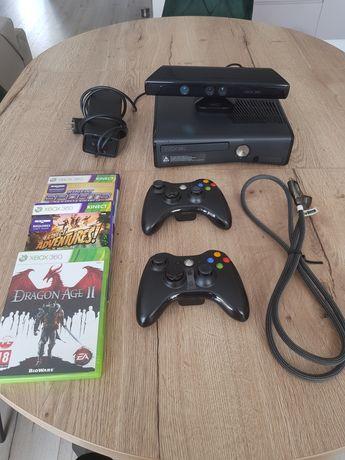 Xbox 360 250 gb + 2 pady + Kinect + Gry Super Stan