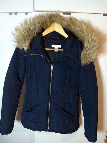 Kurtka z kapturem H&M 34/XS, płaszcz jesienny, wiosenny, zimowy