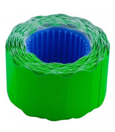 Єтикет стрічка фігурна 26×12(зелена)1000шт.
