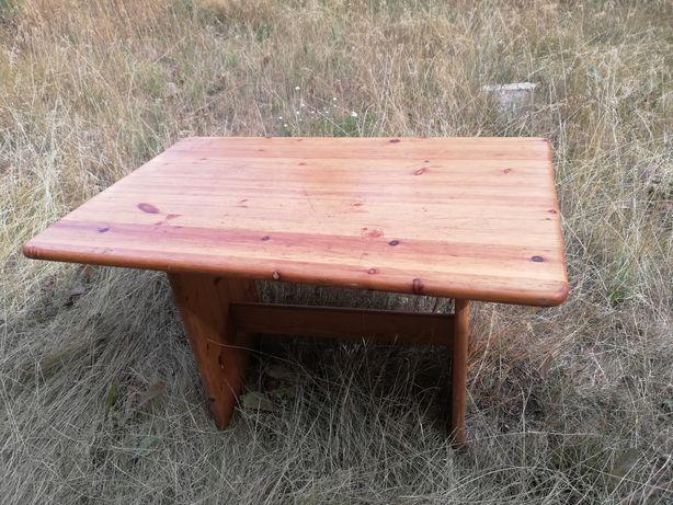 Półka drewniana, stojak na choinkę, stół sosnowy