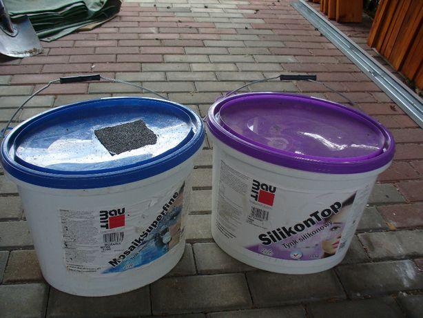 Tynk silikonowy JASNY SZARY/Biały i mozaika BAUMIT za poł ceny, po 99