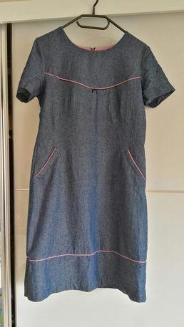 Sukienka jeansowa do karmienia z kieszeniami (De facto 40)