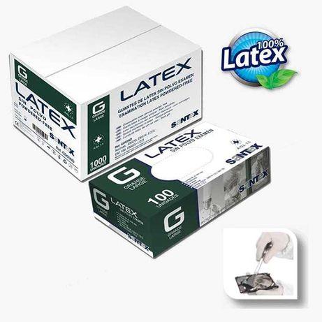 Luvas de Latex Transparente S/Pó SANTEX (S, M, L e XL)