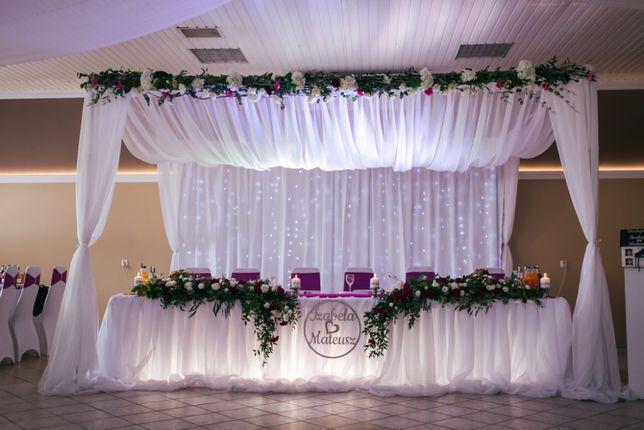 Dekoracja sali weselnej, SŁUPCA i okolice