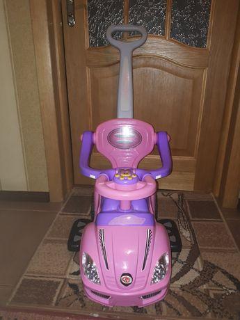 Машинка толокар для дівчинки