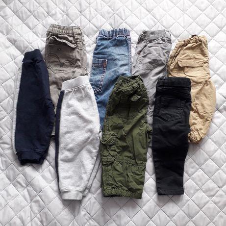 Zestaw spodni 16 sztuk paka dla chłopaka 80 ogrodniczki dżinsy dresy