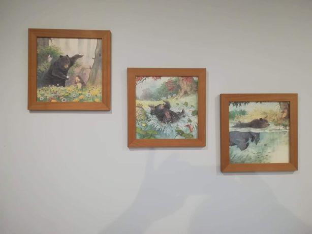 Obrazki w drewnianej ramce
