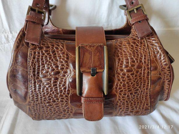 Кожаная женская сумка.
