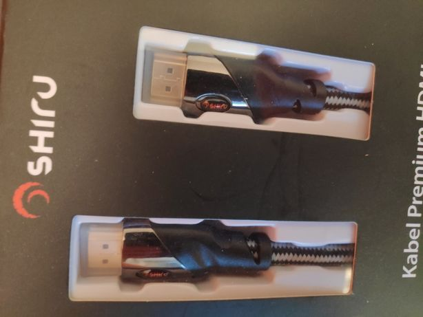 Kabel HDMI 3 metry, Premium - najwyższa jakość - Shiru - 3D, 4K
