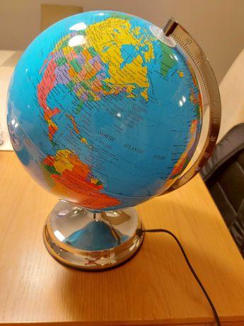Globo Terrestre com Luz em Inglês