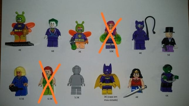 Lego Minifiguras DC, Disney, Jurrasic World, Simpsons, Star wars, City