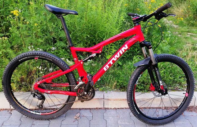 Gotowy do jazdy rower Rockrider full amortyzowany, rama Alu, koła 27,5