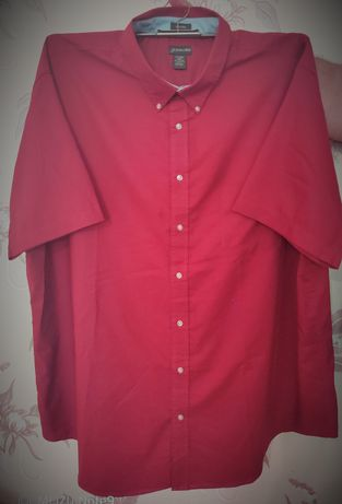 Рубашки мужские 3 шт.большой размер с коротким рукавом 4XL ворот 52см.
