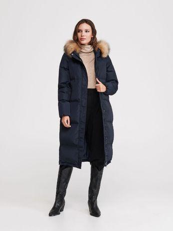 płaszcz zimowy damski wypełnienie pierze xl