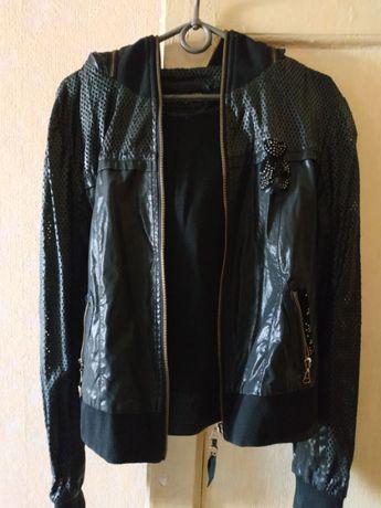 Куртка для девочки подростка S перфорированная эко.кожа