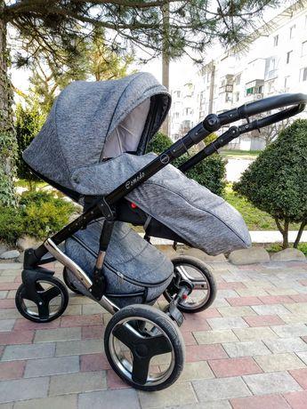 Детская коляска 2 в 1 Mikrus Comodo Silver в хорошем состоянии