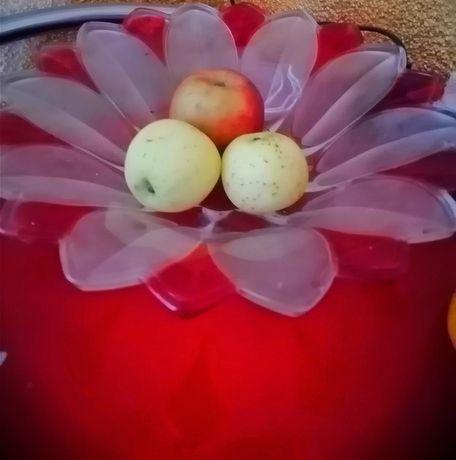 Вазочка, фруктовница, ваза стеклянная для фруктов, конфет, пряников