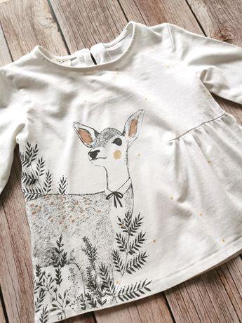 Zara Kids BabyGirl r. 98 - bluzeczka z sarenką