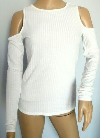 Bluzka z odkrytymi ramionami. H&M