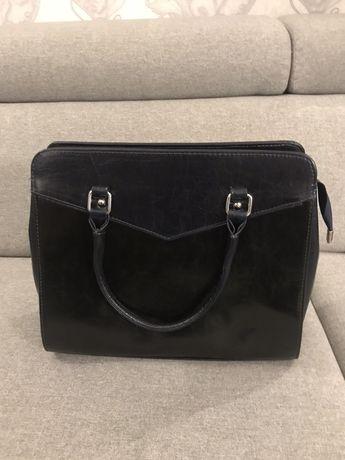 Nowa torebka damska granatowo- czarna