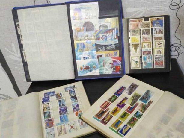 почтовые марки коллекция 1480 шт в альбомах