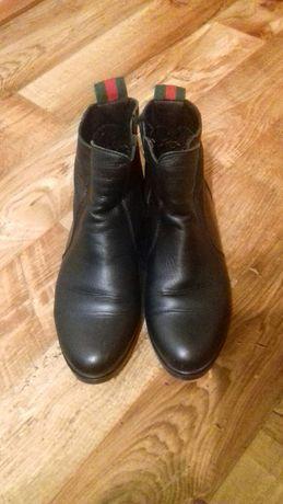 Ботинки кожаные 39