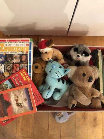 Maskotki przytulanki piękne pudło na zabawki