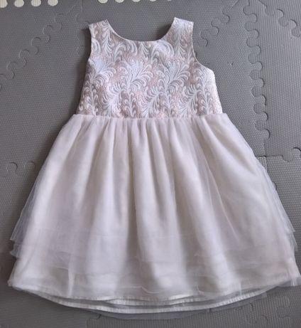 Cynthia Rowley sukienka wizytowa-święta 98 cm, 2-3 lata ecri