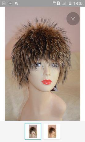 Шапка парик меховая (енот)