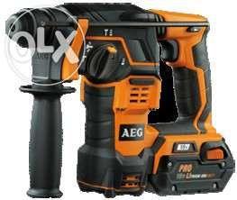 Martelo a Bateria AEG BBH 18 LI SDS Plus + oferta de 10 brocas sds plu