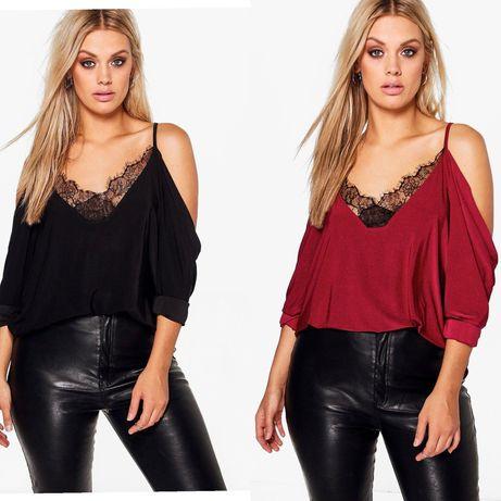 блузы-кофты с кружевом Boohoo/на пышные формы/баталл