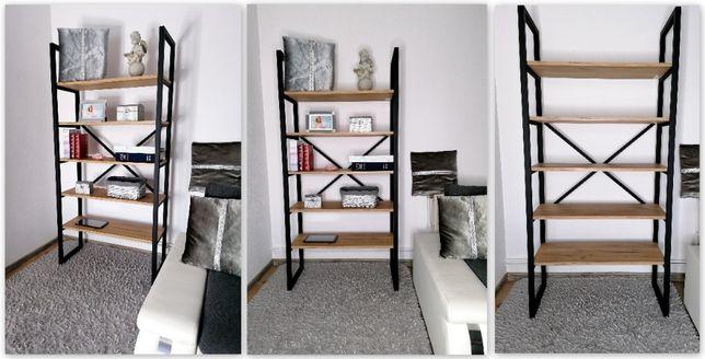 Regał półka loft industrialna książki