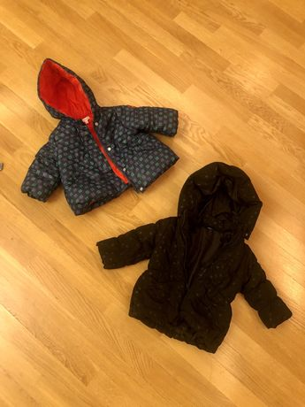 Курточки демисезонные на девочку 68см