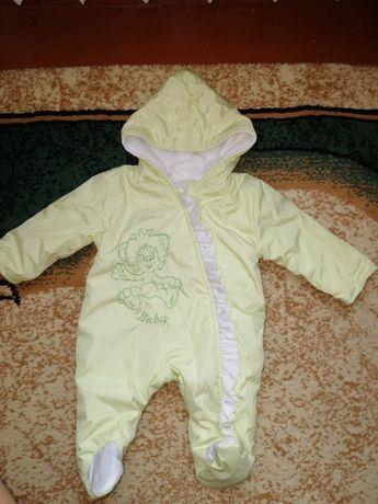 Демисезонный Комбенизон-человечек унисекс на возраст 1-3 месяца