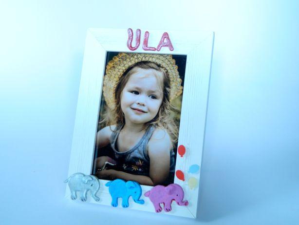 Ramka na zdjęcie z imieniem Prezent dla dziecka dziewczynki chłopca