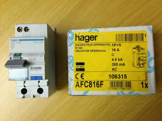 Disjuntor Diferencial 1P+N 16A - 300mA da Hager