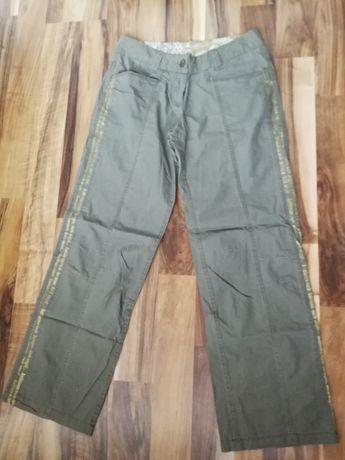 Zielone bawełniane spodnie XL, InPost tylko 5 PLN