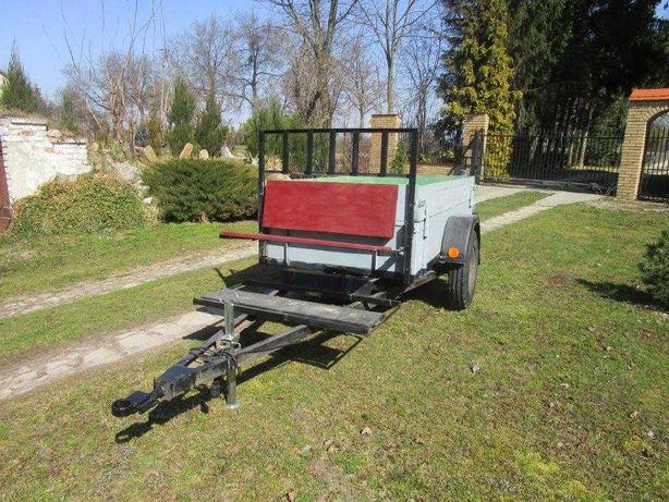 Przyczepa rolnicza, jednoosiowa - typu Dzik dla ogrodnika, sadownika.