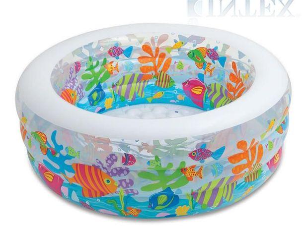 Детский надувной бассейн 152х56см, манеж и батут басейн INTEX (Интекс)