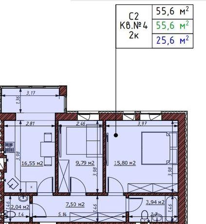 2к квартира с собственным двориком. 50м2 возле Бучанського парка