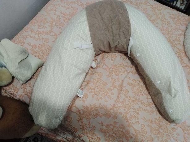 Almofada amamentação e almofada de descanso bebé