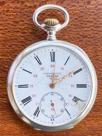 Relógio de Bolso Zenith de Prata 1917