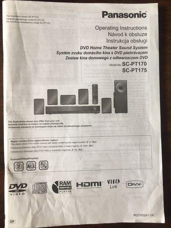 Instrukcja kina domowego Panasonic SC-PT170 (PT175)