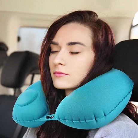 Надувная подушка для путешествий подголовник в дорогу машину