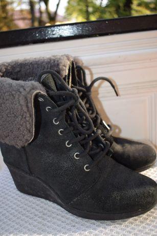 зимние сапоги ботинки UGG на танкетке р.38 25 см на р.38,5 Waterproof