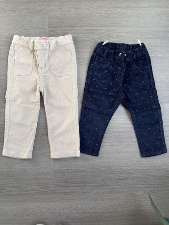 Lote 2 calças bombazina 12-18 e 18-24m