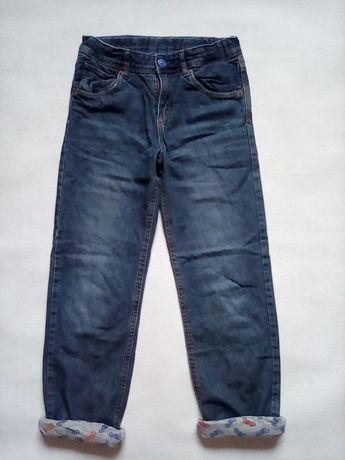 H&M Relaxed Spodnie chłopięce z PODSZEWKĄ 128/134