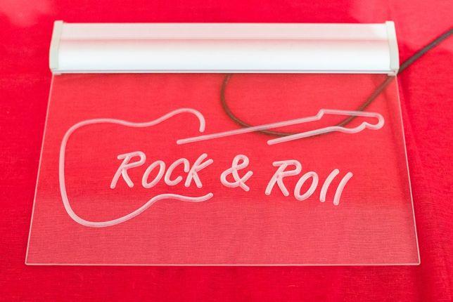 Neon z grawerem Rock adn Roll