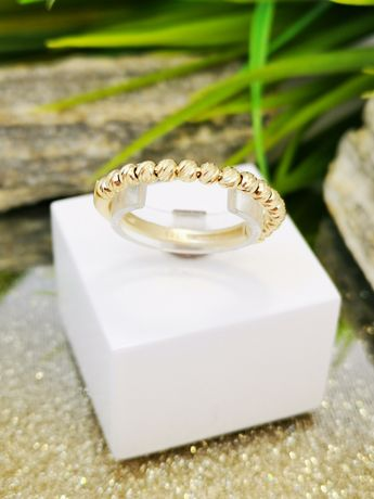 Złoty pierścionek kuleczki Złoto pr.585!!!